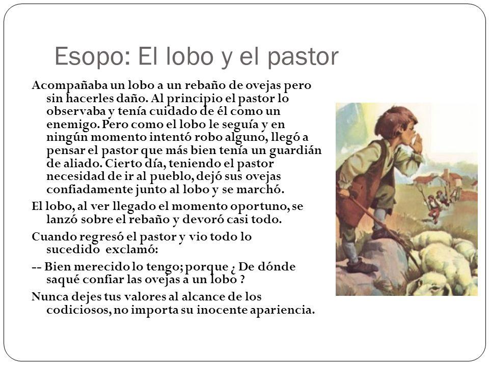 Esopo: El lobo y el pastor