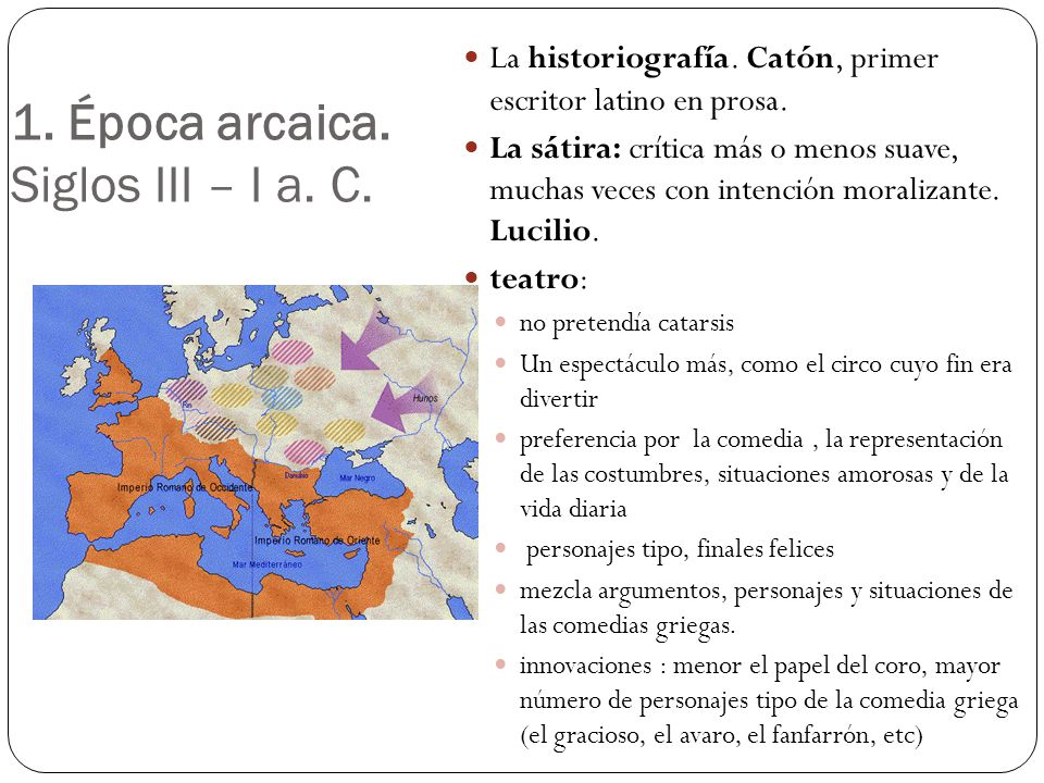 1. Época arcaica. Siglos III – I a. C.