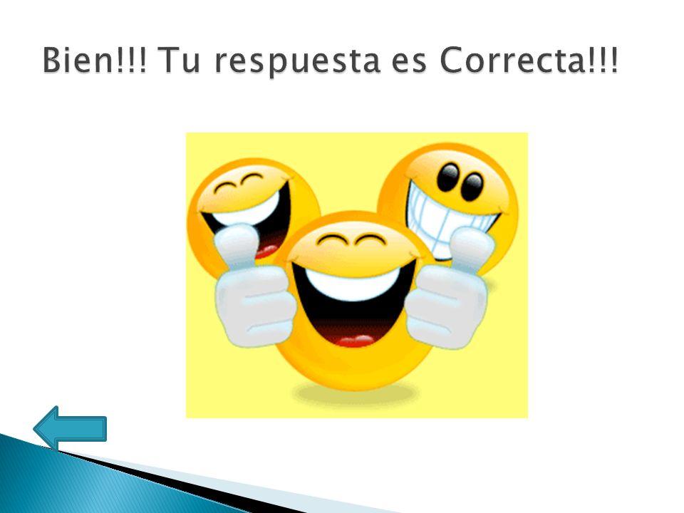 Bien!!! Tu respuesta es Correcta!!!