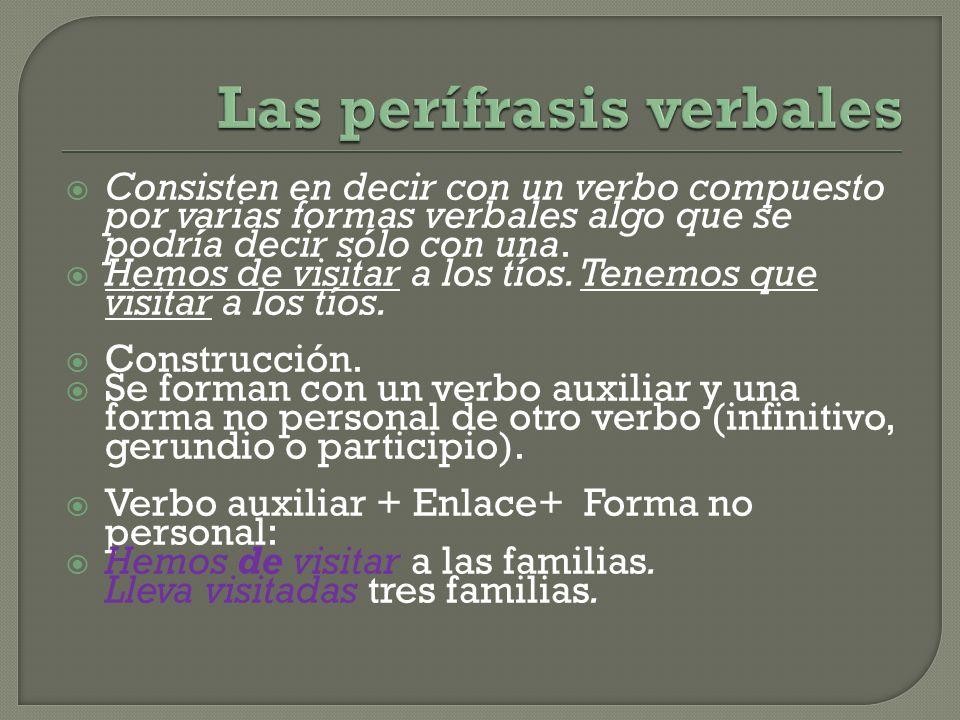 Las perífrasis verbales