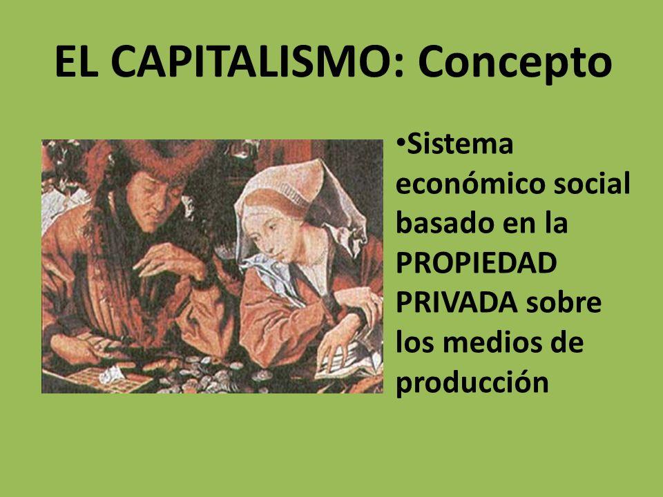 EL CAPITALISMO: Concepto