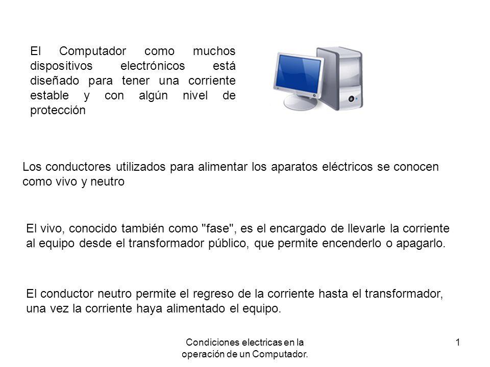 Condiciones electricas en la operación de un Computador