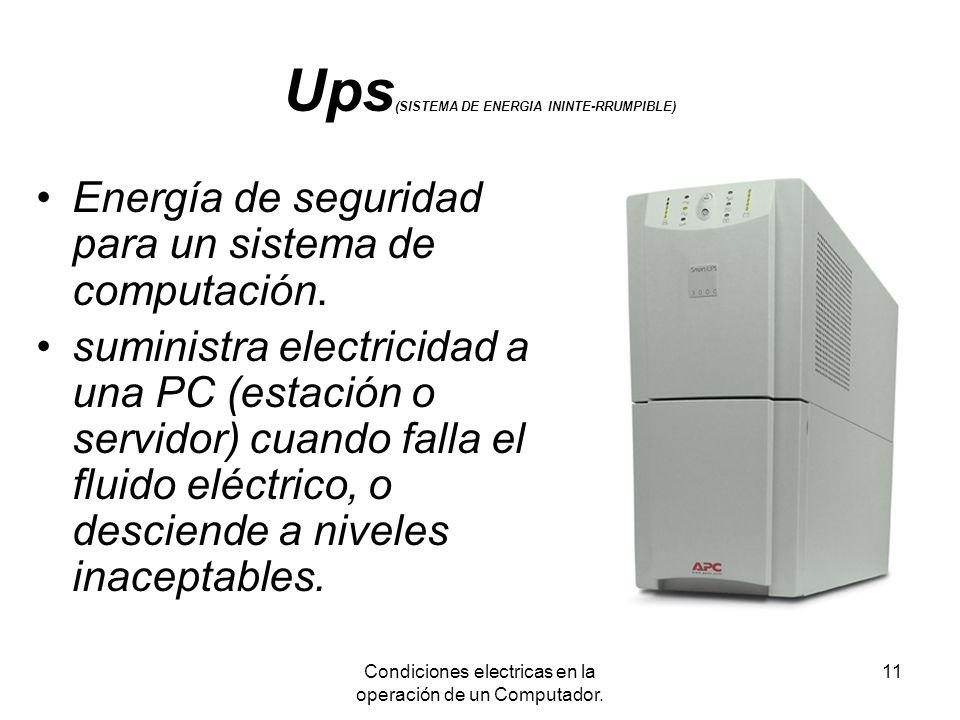 Ups(SISTEMA DE ENERGIA ININTE-RRUMPIBLE)