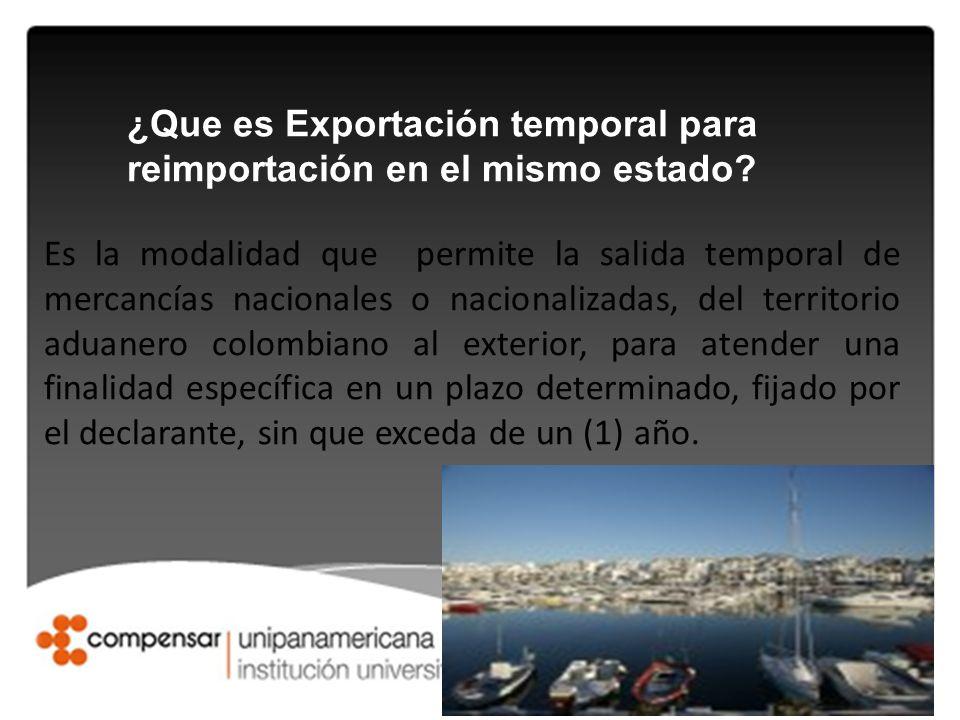 ¿Que es Exportación temporal para reimportación en el mismo estado