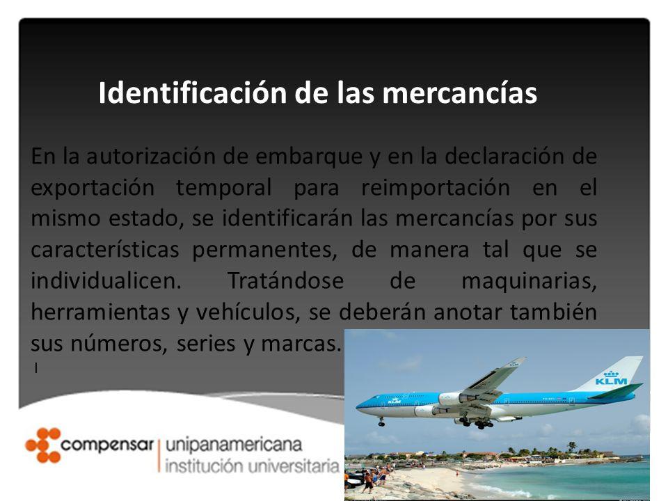 Identificación de las mercancías