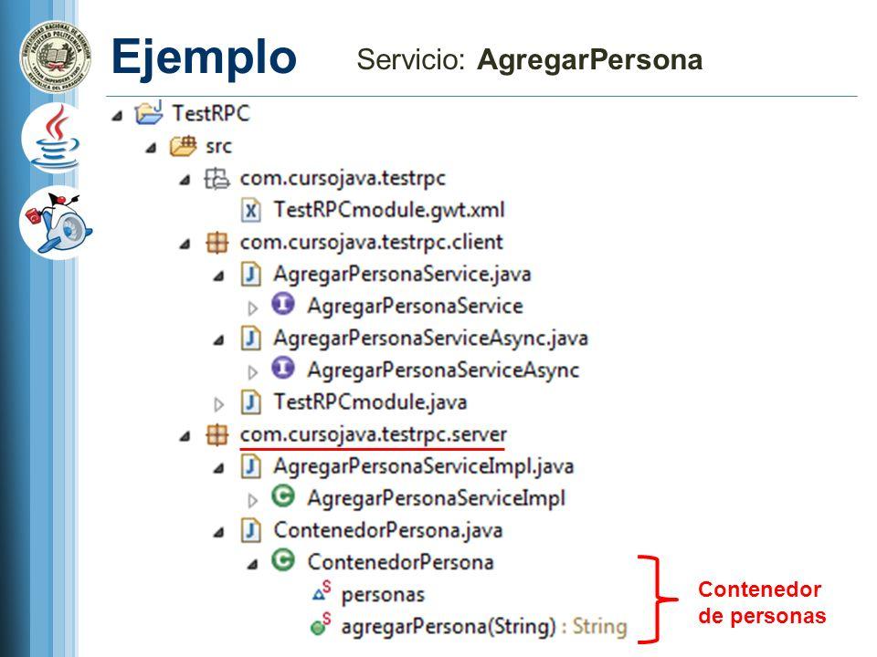 Servicio: AgregarPersona
