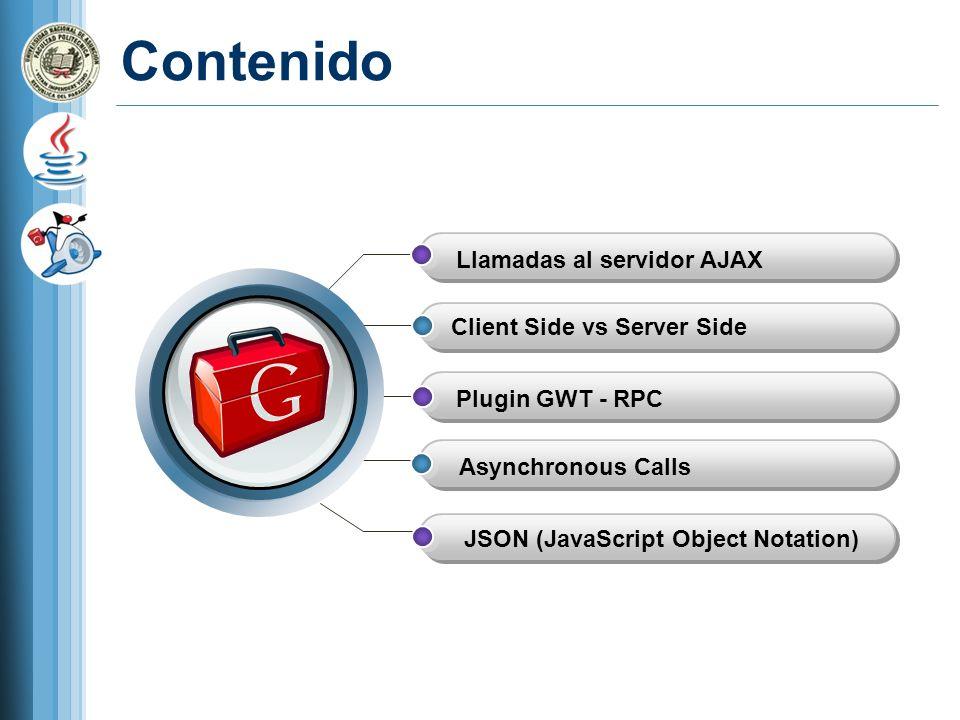 Contenido Llamadas al servidor AJAX Client Side vs Server Side