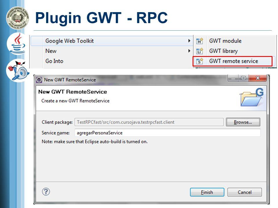 Plugin GWT - RPC