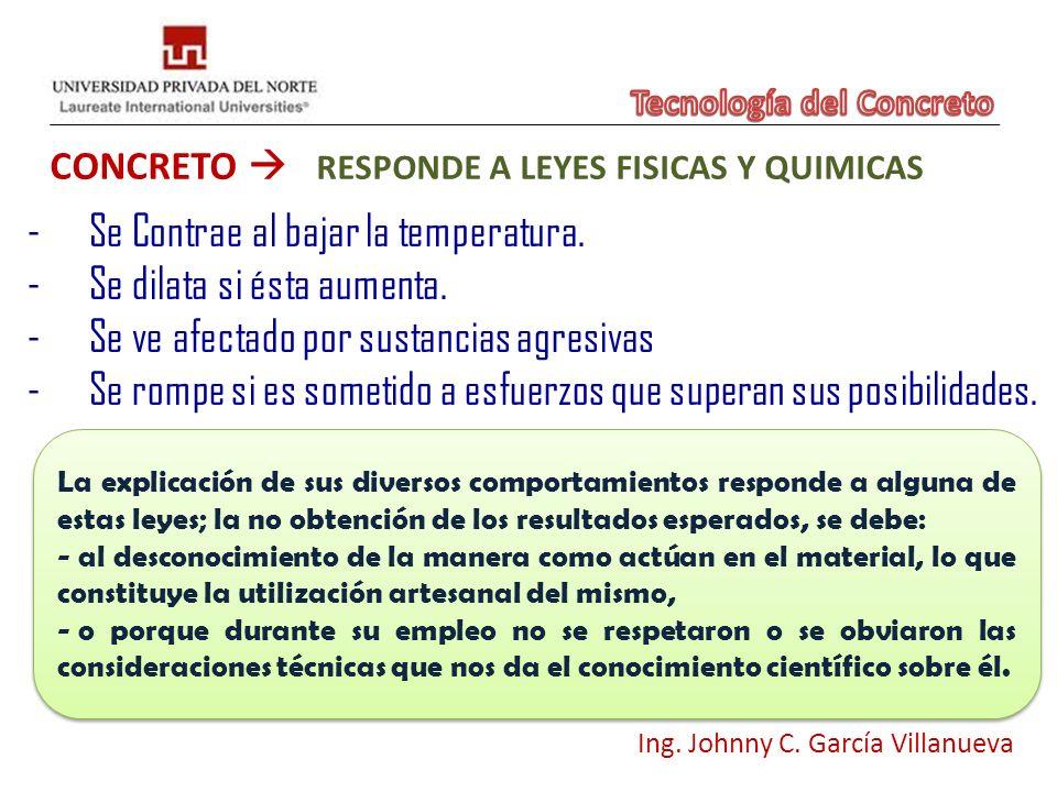 CONCRETO  RESPONDE A LEYES FISICAS Y QUIMICAS