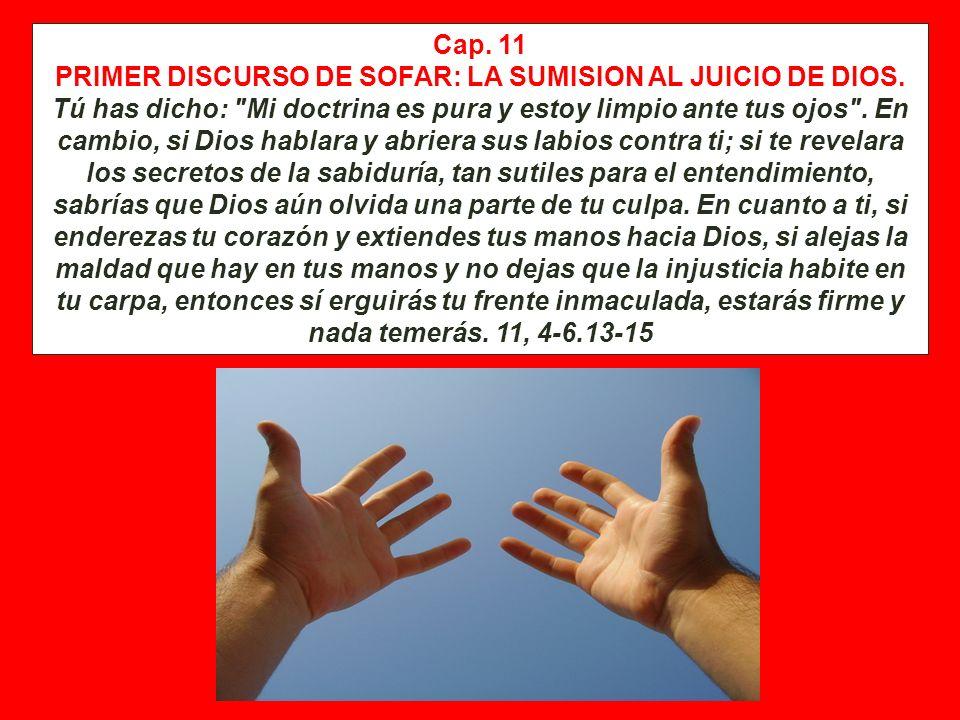 PRIMER DISCURSO DE SOFAR: LA SUMISION AL JUICIO DE DIOS.
