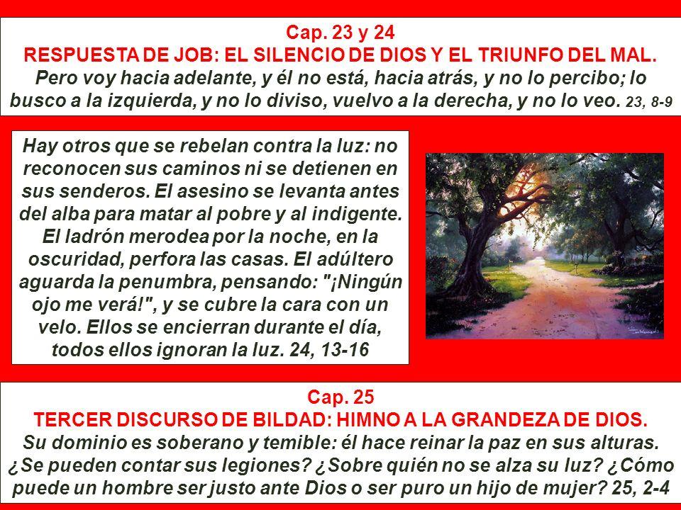 TERCER DISCURSO DE BILDAD: HIMNO A LA GRANDEZA DE DIOS.
