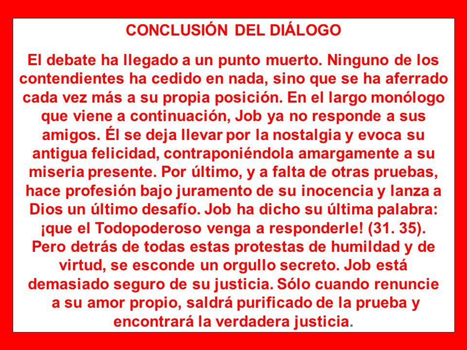 CONCLUSIÓN DEL DIÁLOGO