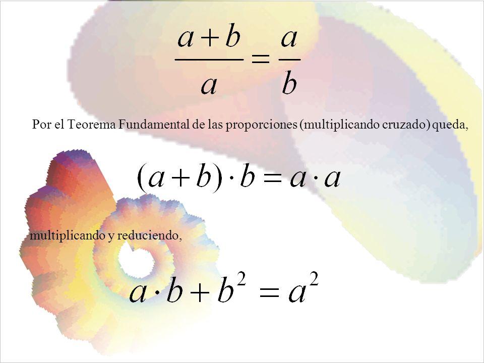 Por el Teorema Fundamental de las proporciones (multiplicando cruzado) queda,