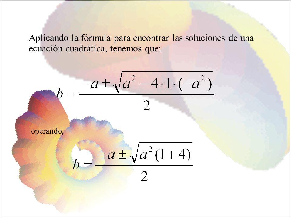 Aplicando la fórmula para encontrar las soluciones de una ecuación cuadrática, tenemos que: