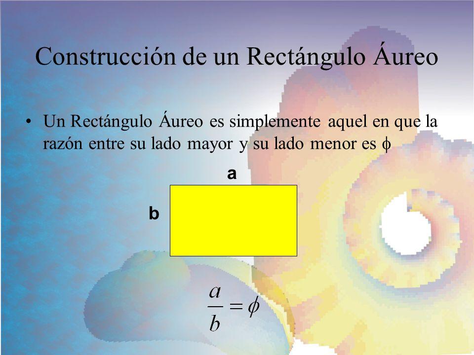 Construcción de un Rectángulo Áureo