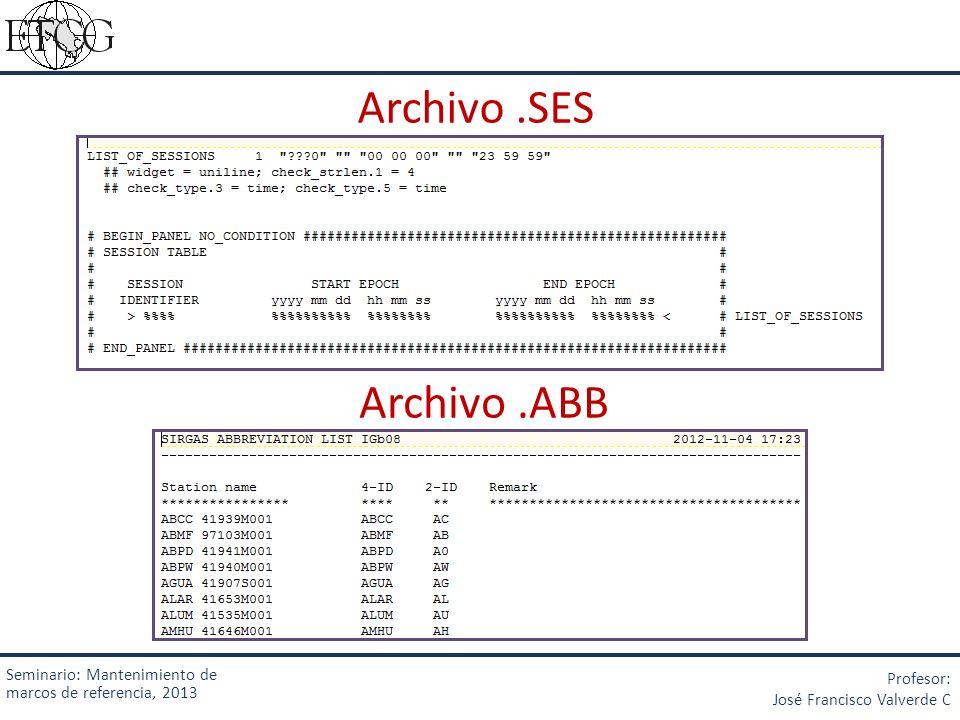Archivo .SES Archivo .ABB