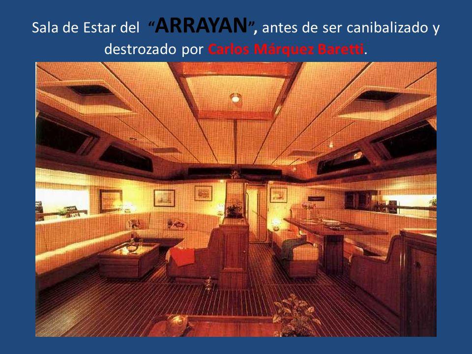 Sala de Estar del ARRAYAN , antes de ser canibalizado y destrozado por Carlos Márquez Baretti.