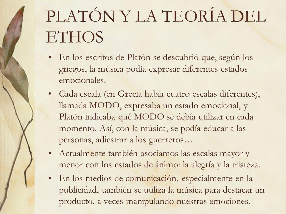 PLATÓN Y LA TEORÍA DEL ETHOS