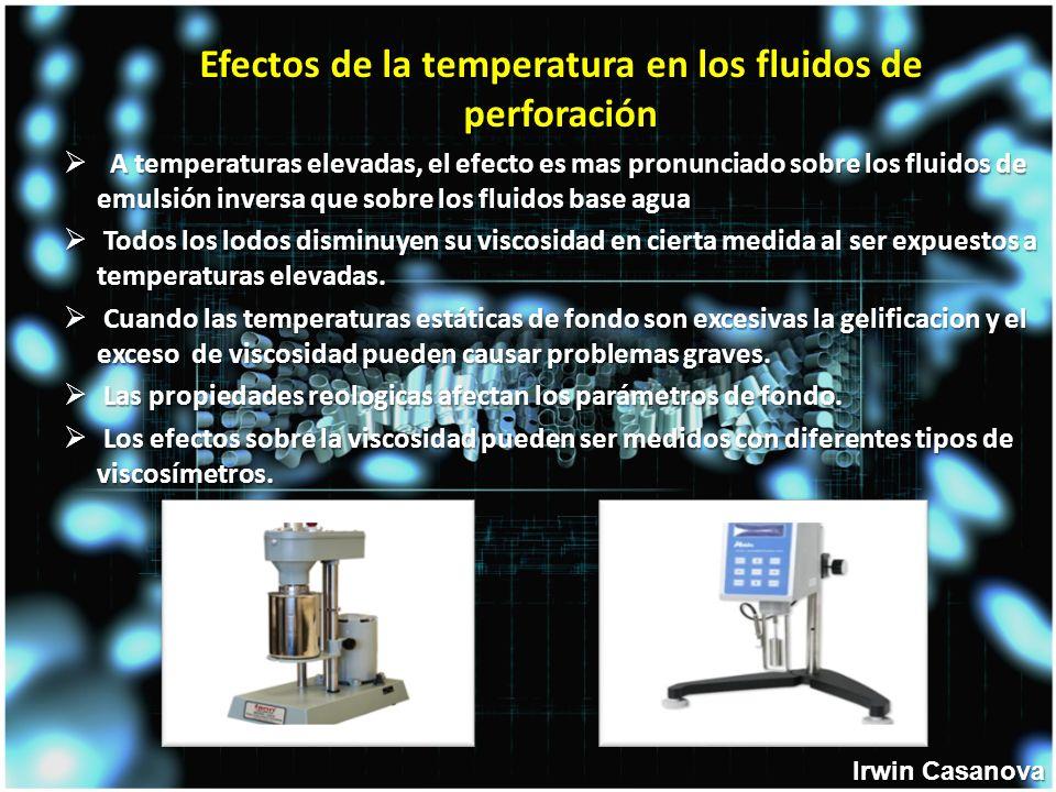 Efectos de la temperatura en los fluidos de perforación