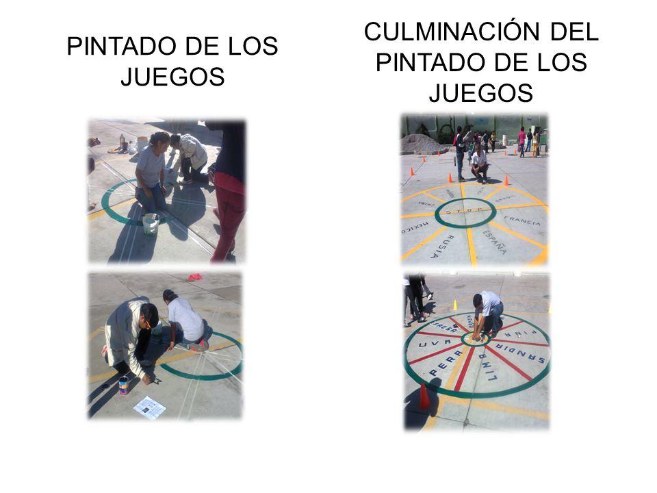 CULMINACIÓN DEL PINTADO DE LOS JUEGOS