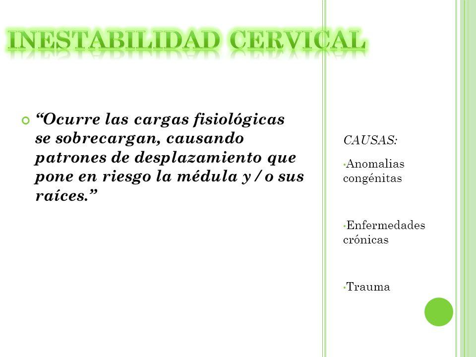 Inestabilidad cervical