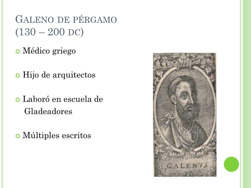 Galeno de pérgamo (130 – 200 dc)