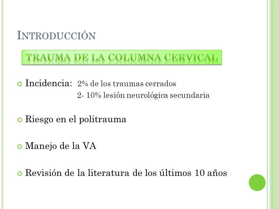 Trauma de la columna cervical