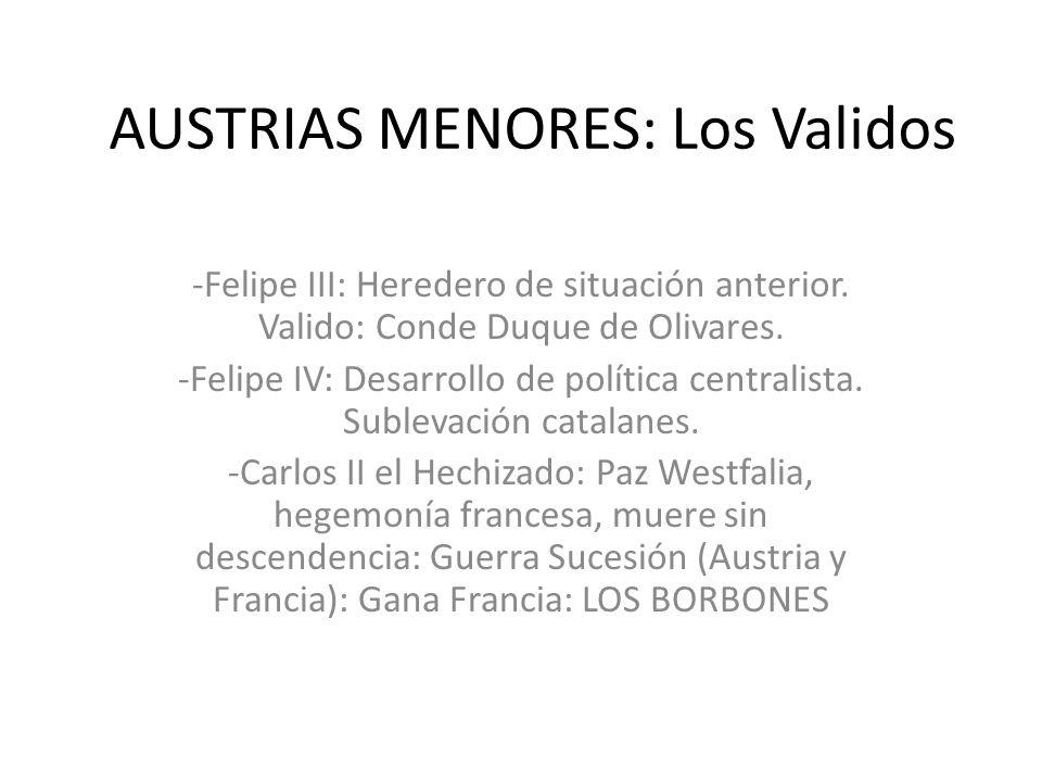 AUSTRIAS MENORES: Los Validos