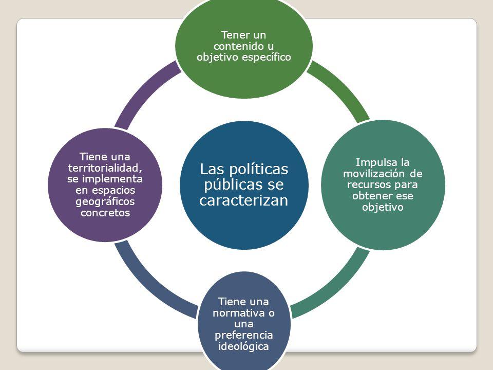 Las políticas públicas se caracterizan