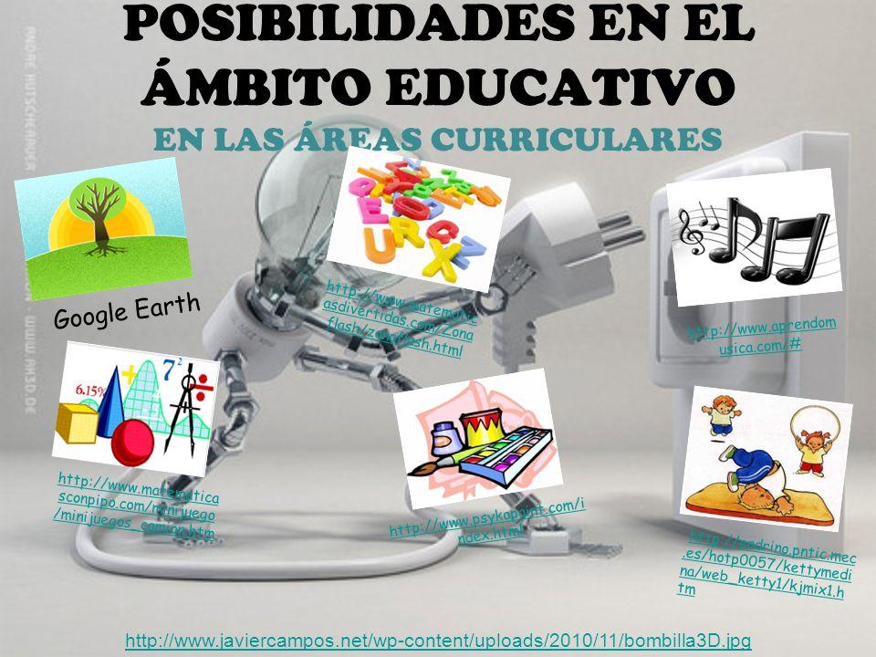 POSIBILIDADES EN EL ÁMBITO EDUCATIVO EN LAS ÁREAS CURRICULARES