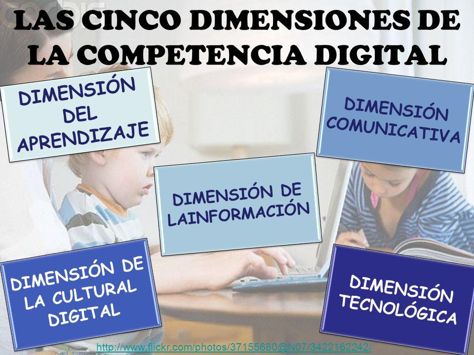 LAS CINCO DIMENSIONES DE LA COMPETENCIA DIGITAL