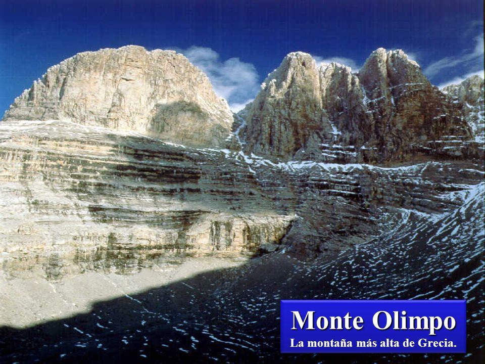 Monte Olimpo La montaña más alta de Grecia.