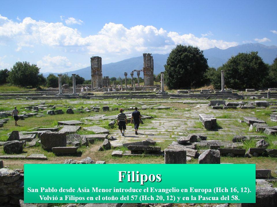 Filipos San Pablo desde Asia Menor introduce el Evangelio en Europa (Hch 16, 12).