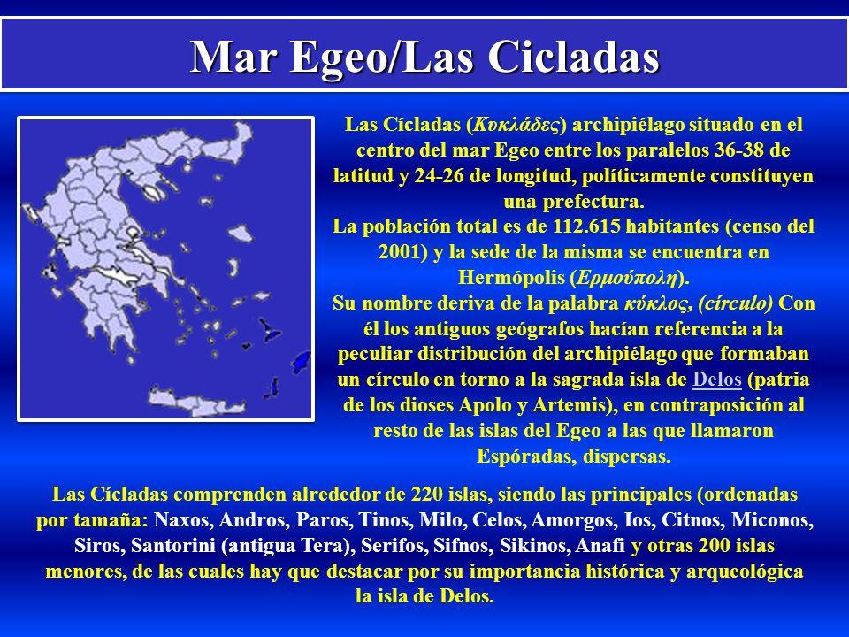 Mar Egeo/Las Cicladas