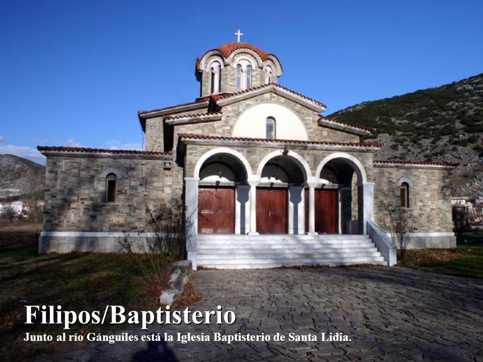 Filipos/Baptisterio Junto al río Gánguiles está la Iglesia Baptisterio de Santa Lidia.