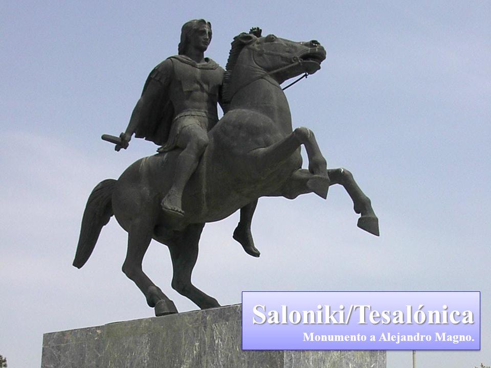 Saloniki/Tesalónica Monumento a Alejandro Magno.