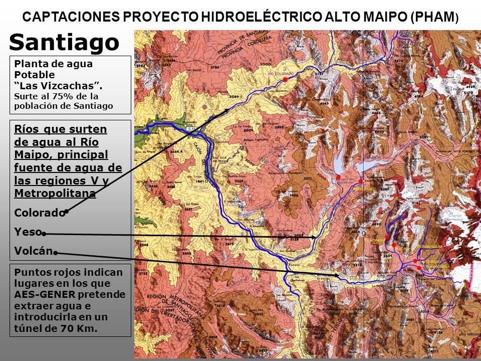 CAPTACIONES PROYECTO HIDROELÉCTRICO ALTO MAIPO (PHAM)