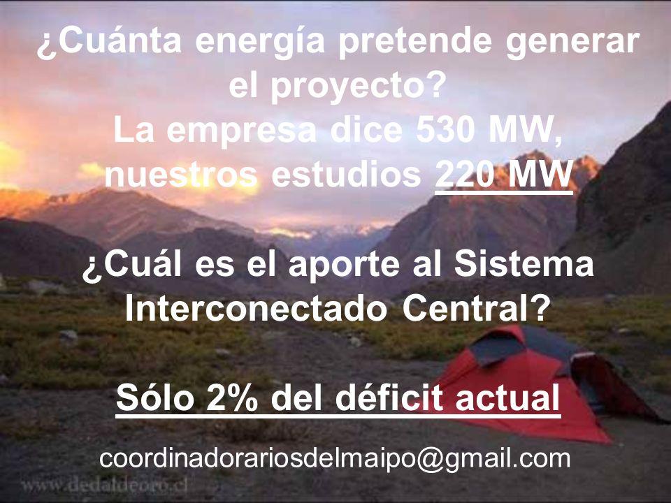 ¿Cuánta energía pretende generar el proyecto