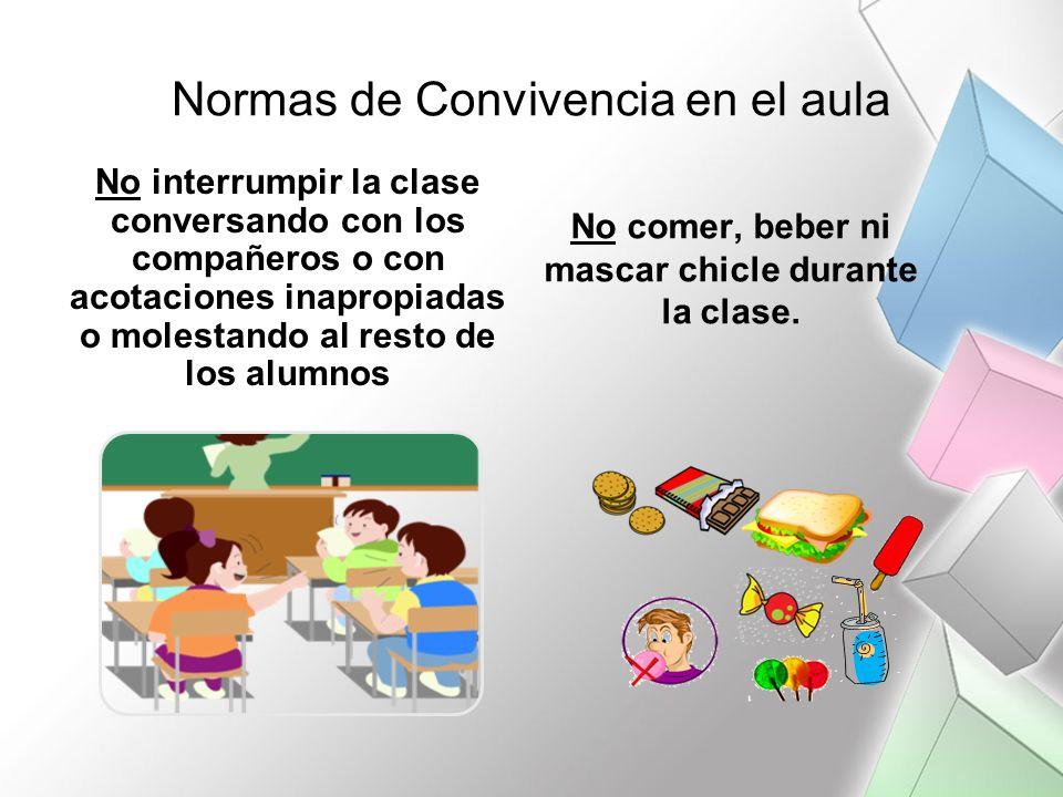 Normas de Convivencia en el aula