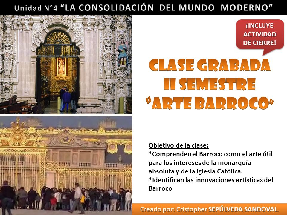 Clase Grabada II Semestre ARTE BARROCO