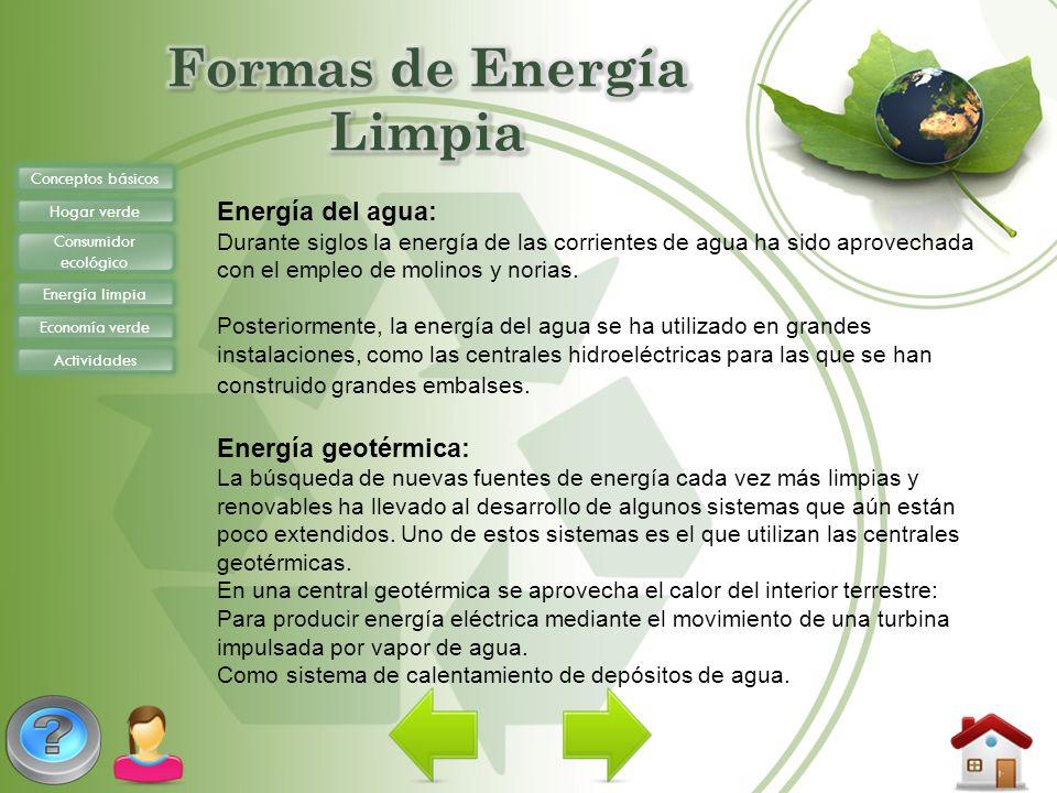 Formas de Energía Limpia