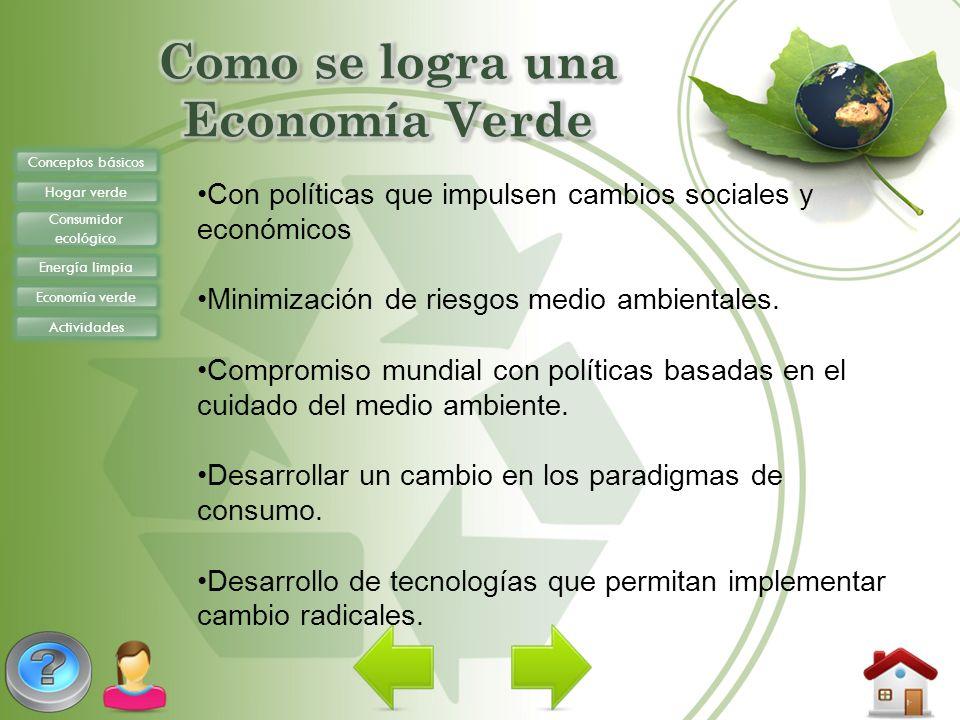 Como se logra una Economía Verde