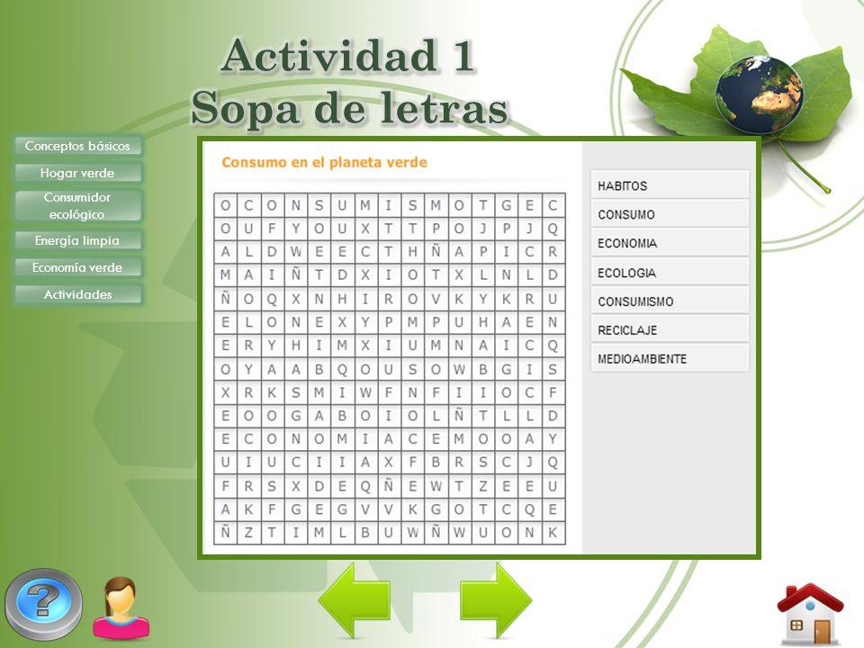 Actividad 1 Sopa de letras