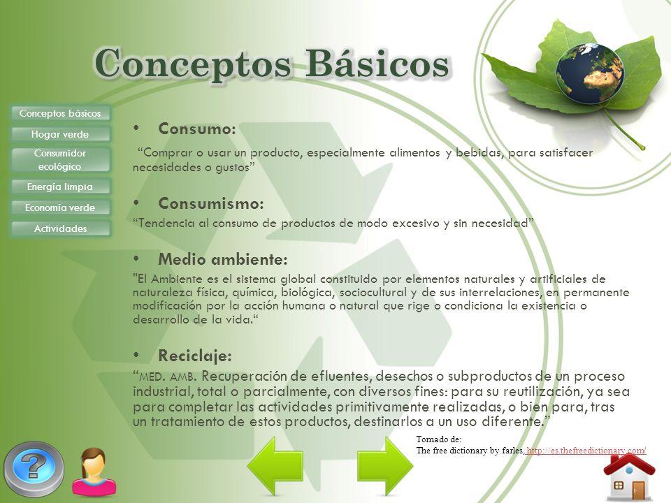 Conceptos Básicos Consumo: