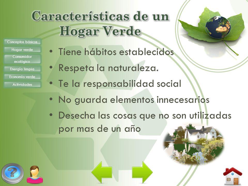 Características de un Hogar Verde