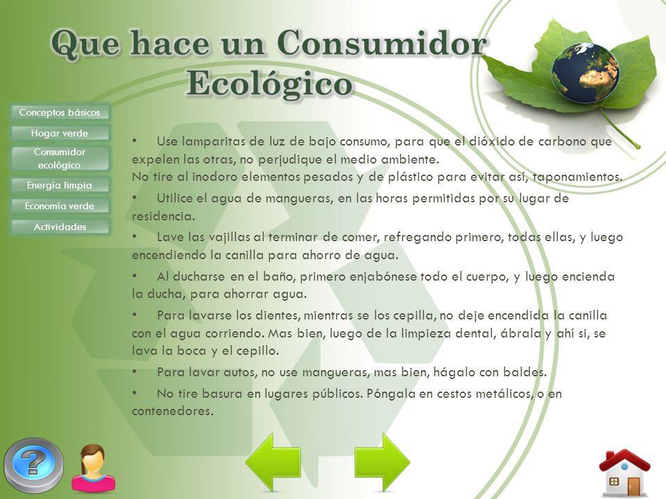 Que hace un Consumidor Ecológico