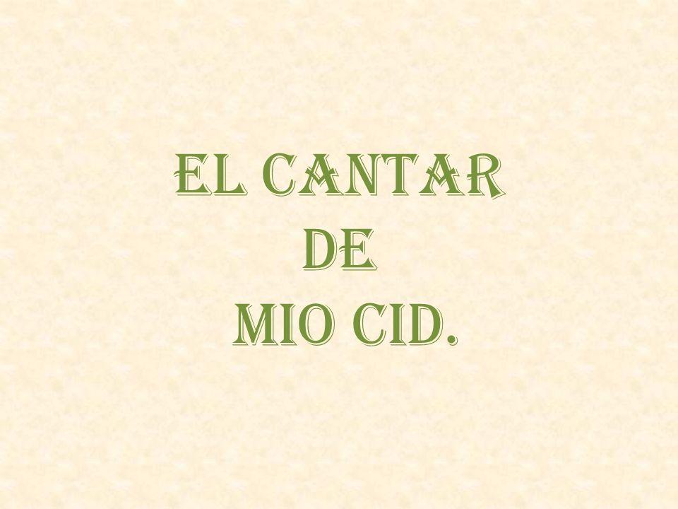 EL CANTAR DE MIO CID.