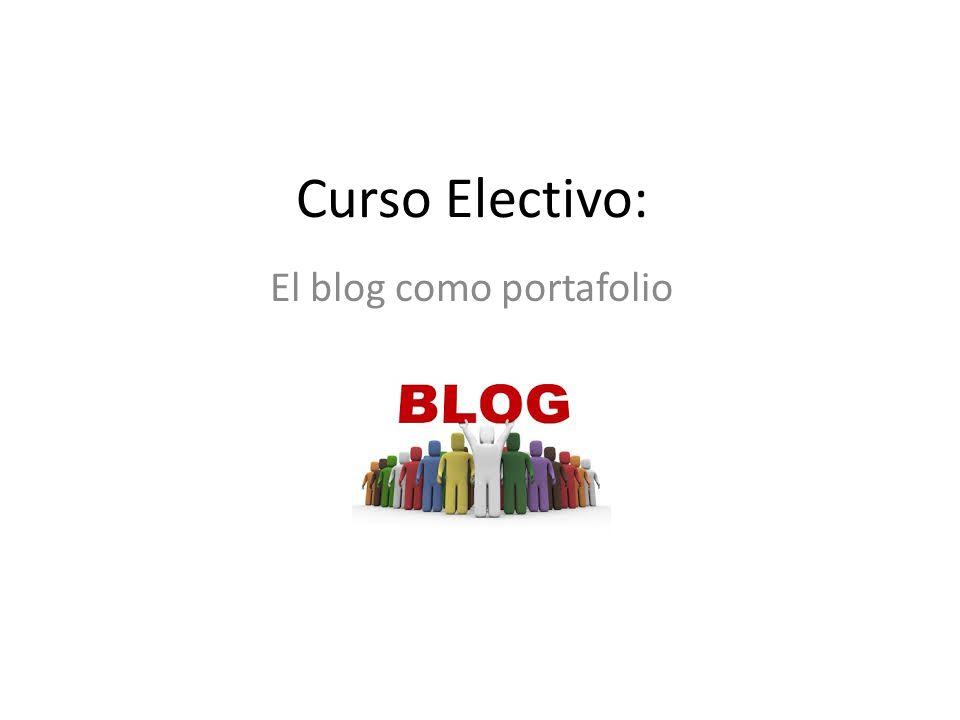 El blog como portafolio