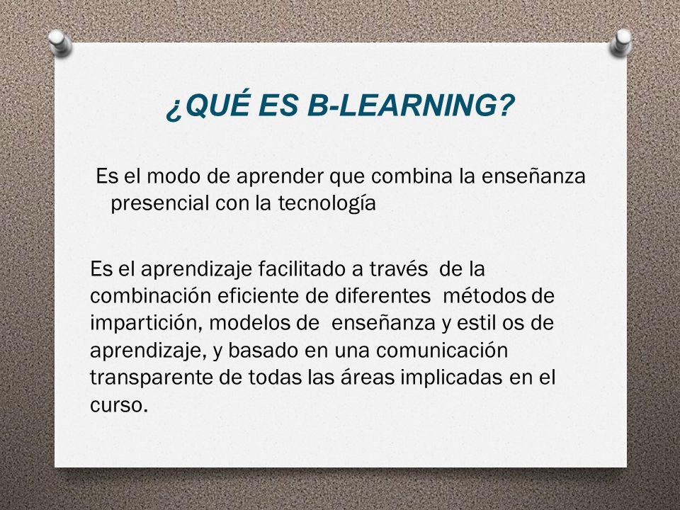 ¿QUÉ ES B-LEARNING