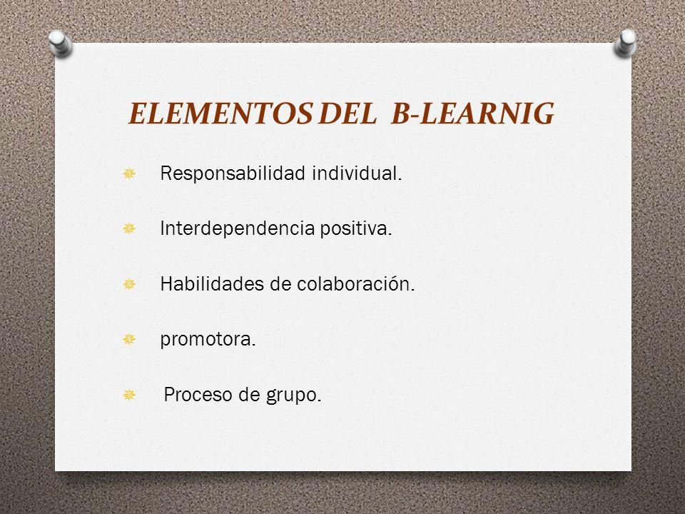 ELEMENTOS DEL B-LEARNIG